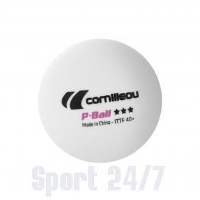 МЯЧИКИ ТЕННИСНЫЕ ПЛАСТИКОВЫЕ CORNILLEAU P-BALL 3*** 40+ (БЕЛЫЙ), 3 ШТ.