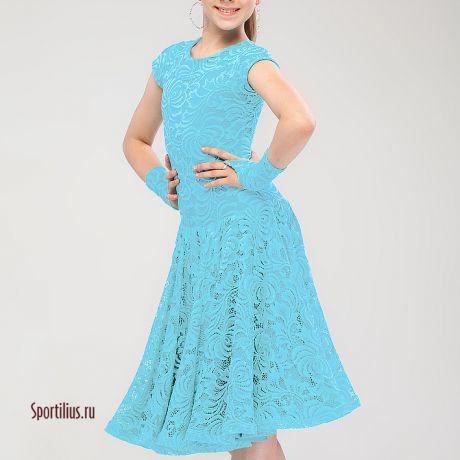 """Рейтинговое платье """"Стиль"""" голубое"""