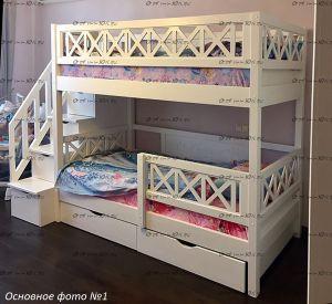 Кровать двухъярусная Массив №Д3 (Кровать двухъярусная La Mer)