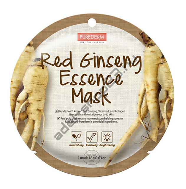"PUREDERM - Тканевая маска ""Red Ginseng"" Circle Mask"