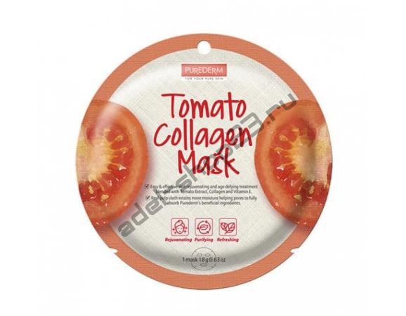 "PUREDERM - Тканевая маска ""Tomato"" Circle Mask"