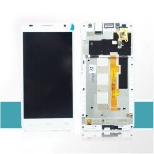 LCD (Дисплей) Alcatel 6036Y OneTouch Idol 2 Mini S (в сборе с тачскрином) (в раме) (white) Оригинал