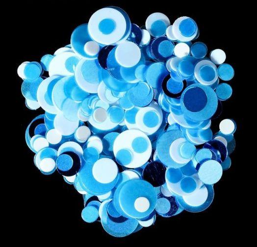 Камифубуки для ногтей, цвет белый/голубой/синий