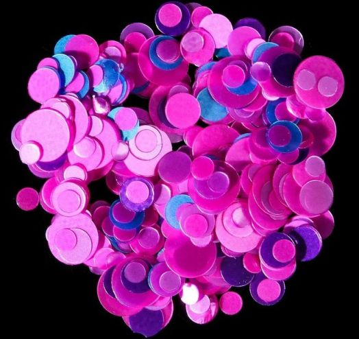 Камифубуки для ногтей, цвет розовый/голубой/фиолетовый