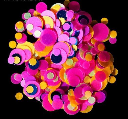 Камифубуки для ногтей, цвет розовый/жёлтый/синий