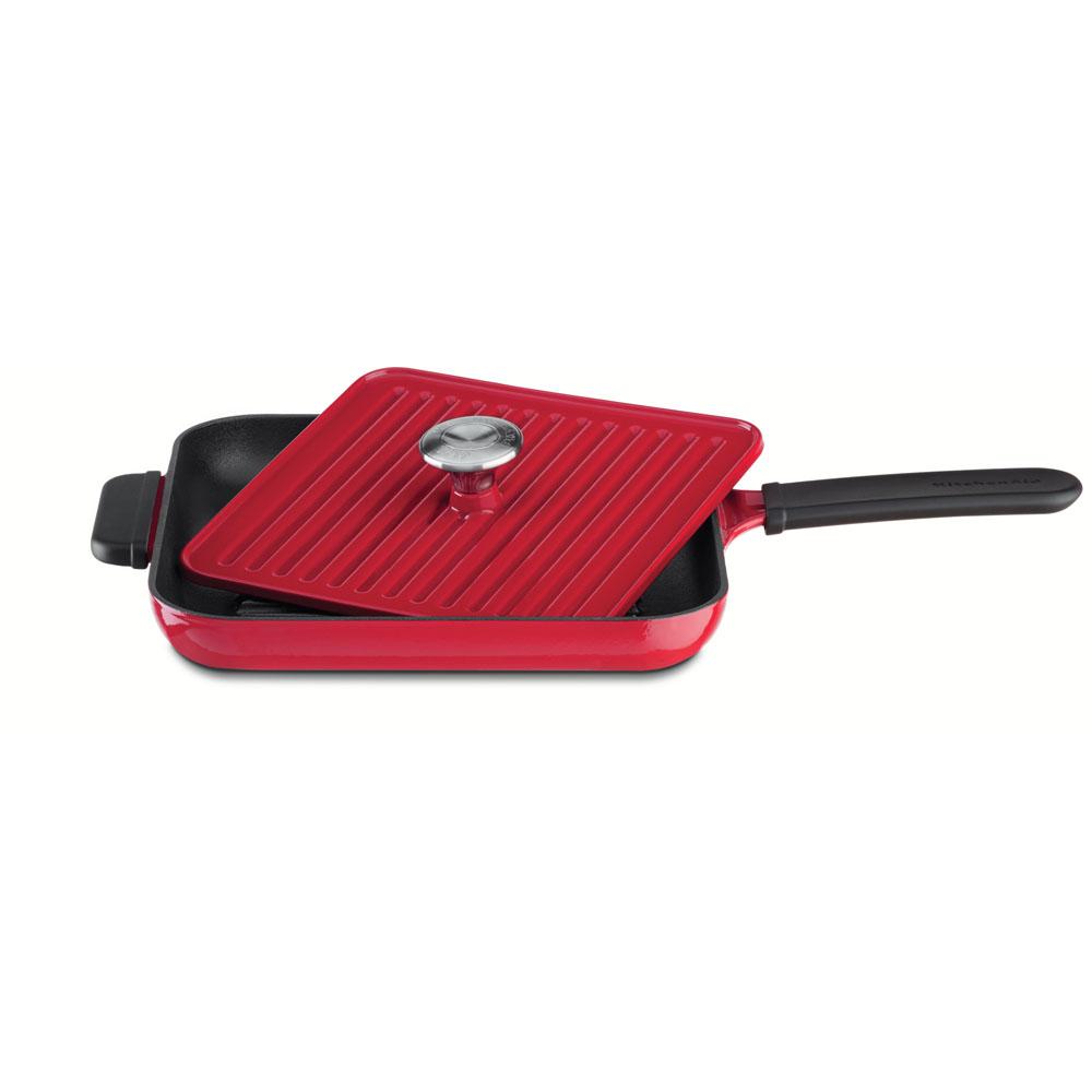 Сковорода-гриль чугунная 25х25 см.,KitchenAid