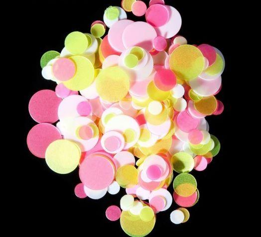 Камифубуки для ногтей, цвет розовый/белый/жёлтый