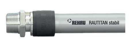 Труба Rehau RAUTITAN stabil Ф40х6,0 5м универсальная труба для отопления и водоснабжения с внутренней армировкой