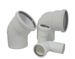 Отвод для систем внутренней канализации Rehau Raupiano Ф50 15*