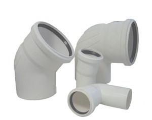Отвод для систем внутренней канализации Rehau Raupiano Ф40 15*