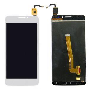 LCD (Дисплей) Alcatel 6043D One Touch Idol X Plus (в сборе с тачскрином) (white) Оригинал
