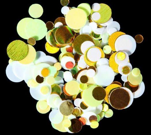 Камифубуки для ногтей, цвет белый/золотой/жёлтый