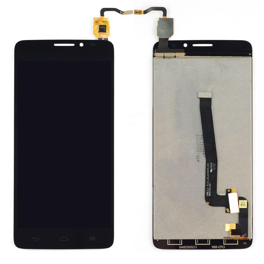 LCD (Дисплей) Alcatel 6043D One Touch Idol X Plus (в сборе с тачскрином) (black) Оригинал