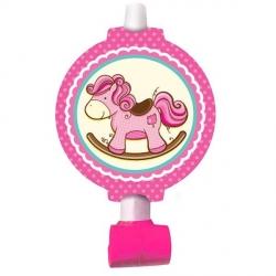 Дудочки-язычки с лошадкой для девочки