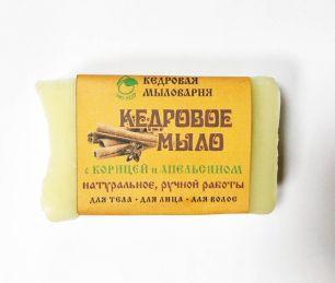 """""""Эко-кедр"""" Мыло кедровое с маслом корица-апельсин, 115гр"""