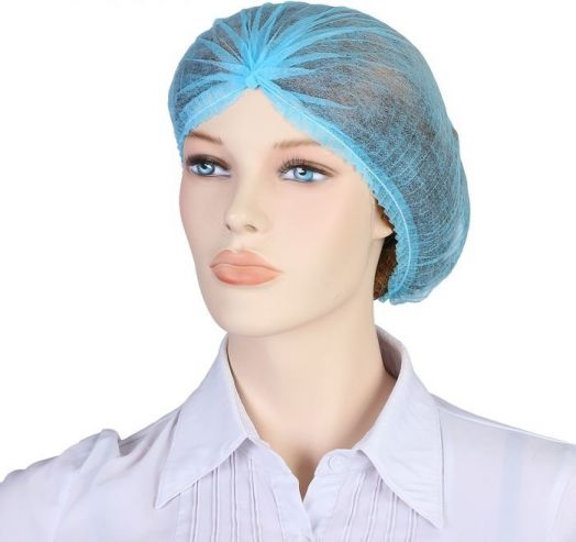 """Шапочка """"Шарлотта"""", 10 шт, цвет синий"""