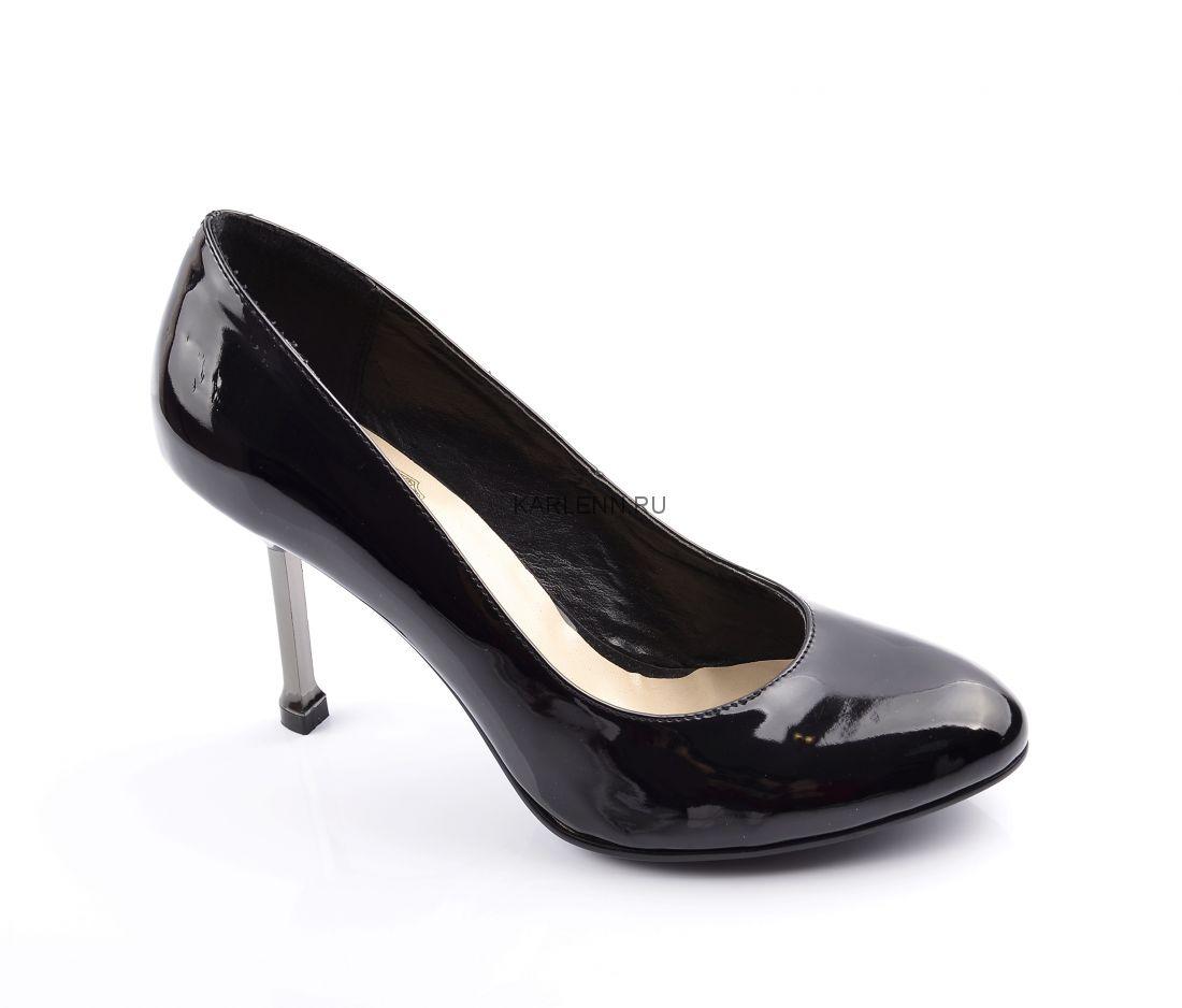 Туфли-лодочки на низком каблуке KC (черные)