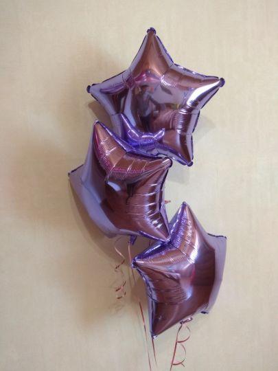 Звезда лиловая шар фольгированный с гелием
