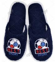 Тапки с вышивкой Лучший спорт