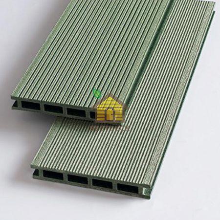 Террасная доска из ДПК 140*22 мм. Зелёный, брашинг. Экодэк.