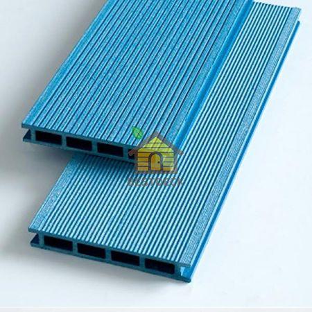 Террасная доска из ДПК 140*22 мм. Синий, брашинг. Экодэк.