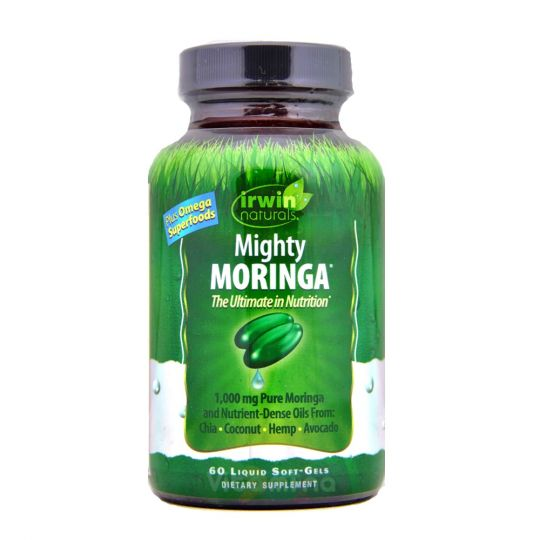 Irwin Naturals Mighty Moringa Моринга, 60 капсул.