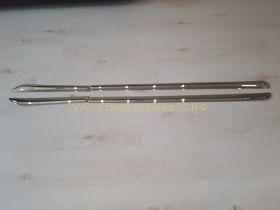 Молдинги на двери Тип 1 (Хром) для Toyota Land Cruiser Prado 150  -