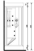 Душевая кабина с сауной Gruppo Treesse Acquazzurra 90х90 см B759 схема 2
