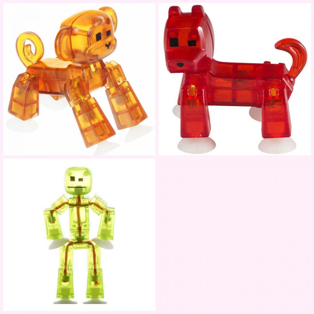 Набор стикботов - 1 фигурка героя и два питомца, в ассортименте