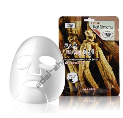 "3W CLINIC - Тканевая маска ""Red Ginseng"""