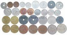 Набор монет Бельгии (31 монета)