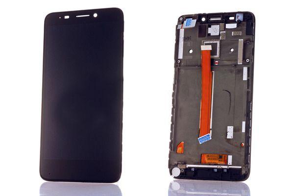 LCD (Дисплей) Alcatel 6034R Idol S/6035R Idol S/МТС 978 (в сборе с тачскрином) (в раме) (black) Оригинал