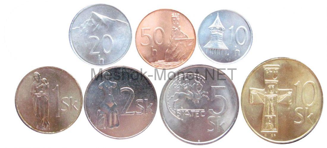 Набор монет Словакии (7 монет)