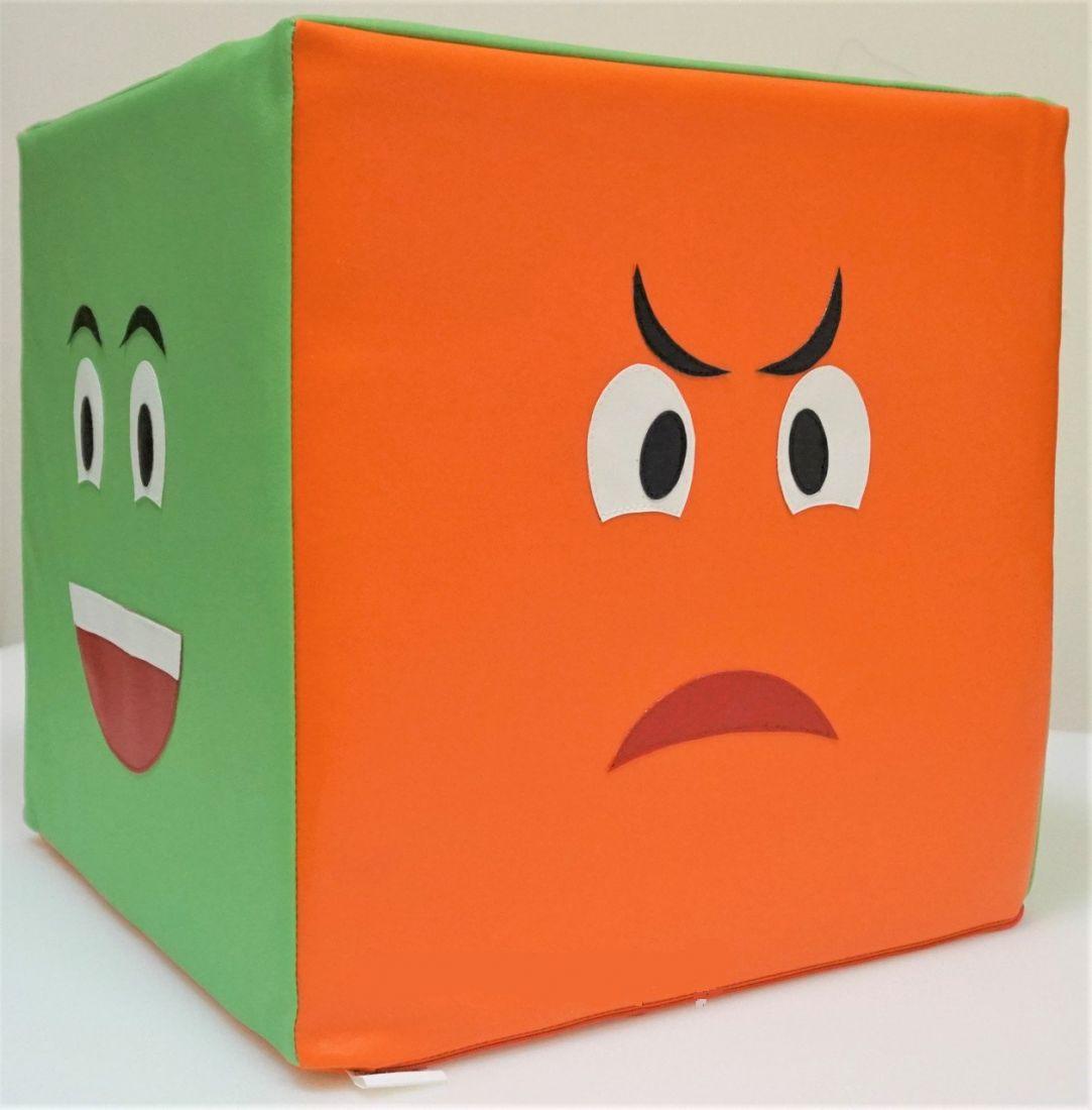 """Дидактический мягкий модуль """"Кубик с эмоциями"""", 40х40 см"""