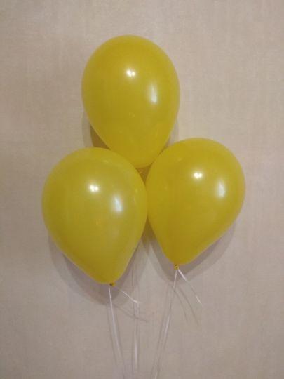 МИНИ жёлтый шар маленького размера с гелием