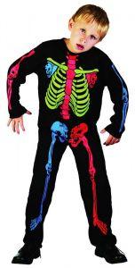 Костюм - скелет детский мультицвет