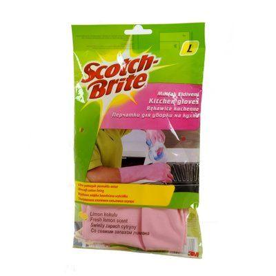Перчатки хозяйственные для кухни 3М Scotch-Brite (Скотч Брайт) размер L, 1 пара