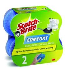 Губка д/деликатной чистки Комфорт 3М Scotch-Brite (Скотч Брайт)  2 шт