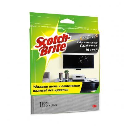 Салфетка микроволоконная High-Tech 3М Scotch-Brite (Скотч Брайт) 320х300мм 1 шт