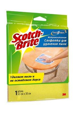 Салфетка микроволоконная д/удаления пыли 3М Scotch-Brite (Скотч Брайт) 300х320мм 1 шт