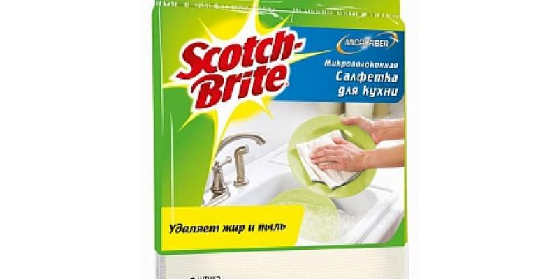 Салфетка микроволоконная ОПТИМА 3М Scotch-Brite (Скотч Брайт) 1 шт