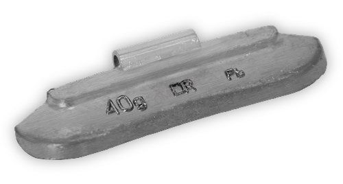 Грузик балансировочный для стальных дисков 40 г (50 шт.)