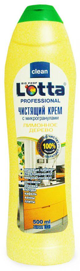 Средство чистящее крем Лимонное дерево Lotta Professional (Лотта Профешнл) 500 мл