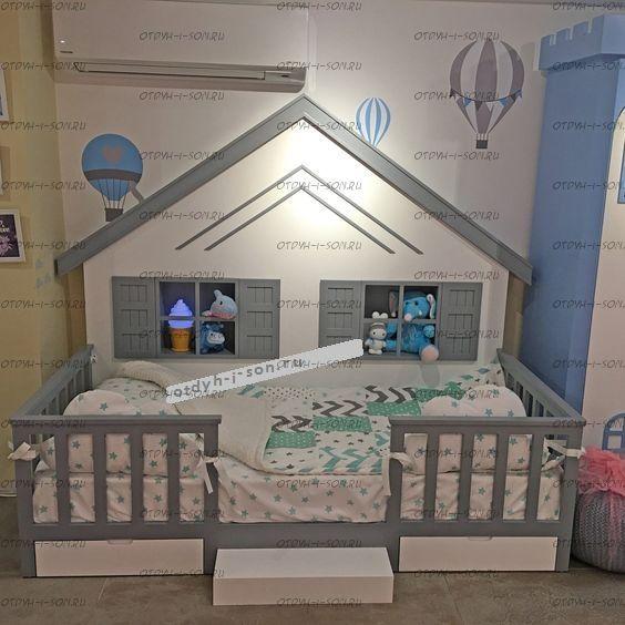 Кровать Домик для девочки Butterfly №IR2 (любые размеры)