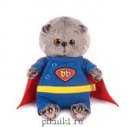 Котик Басик Беби в костюме супермена