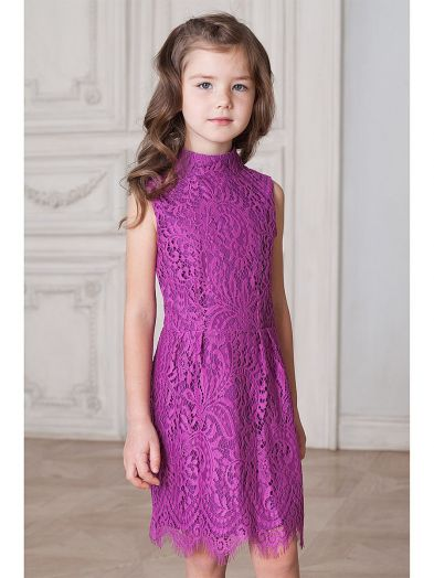 ДИСКОНТ VILATTE F22.134 Платье для девочки розовый