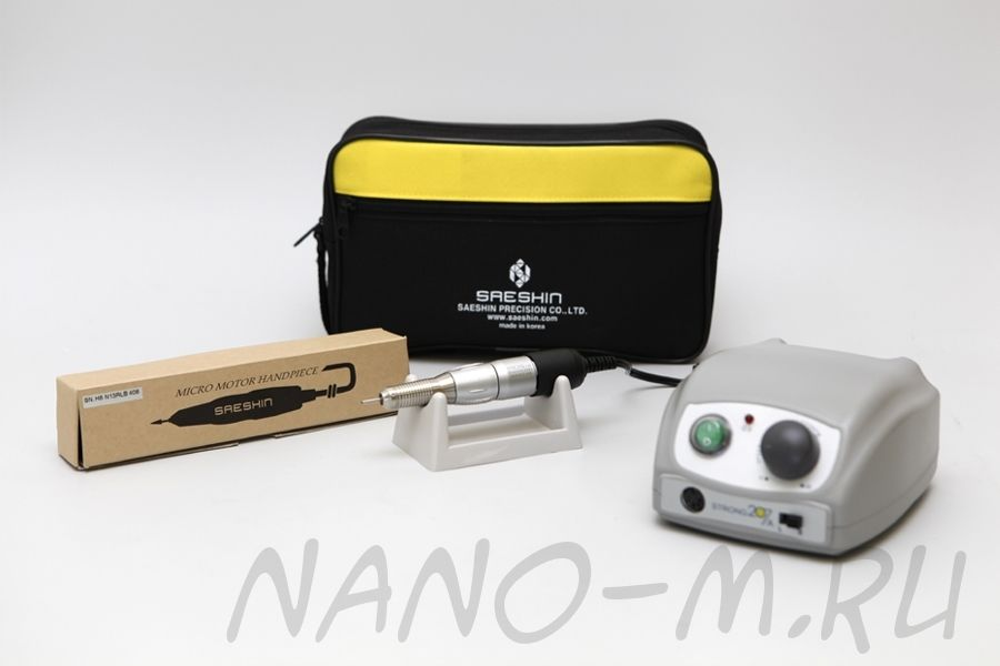 Аппарат для маникюра Strong 207A/120 без педали с сумкой