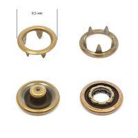 Кнопка трикотажная 9,5мм Антик (кольцо) NewStar нерж. Упаковка - 1440шт