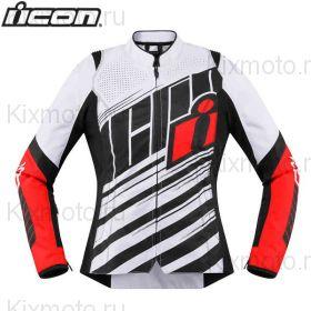 Куртка женская Icon Overlord SB2, Белый/Красный