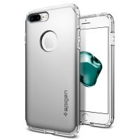 Чехол Spigen Hybrid Armor для iPhone 8 Plus серебристый